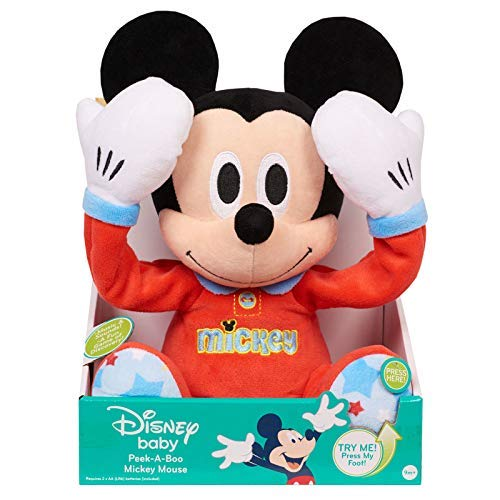 "Disney Baby Peek-A-Boo Talking 10"" Plush - Mickey Mouse"