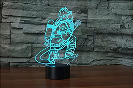 Changeantes De Couleurs Illusion Nuit Lampe 3d Lumière 7 Pompier kO0XZ8nNwP