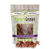 Nature Gnaws Beef Jerky Springs 7-8'' (12 Pack) - 100% All-Natural Grass-Fed Free-Range Premium Beef Dog Chews