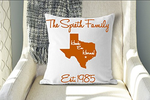 Arthuryerkes Hook Em Horns Texas Pillow Longhorn Pillow
