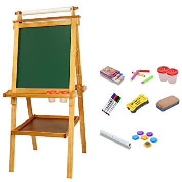 Amazon.com: Easel - Tabla de dibujo infantil doble cara ...