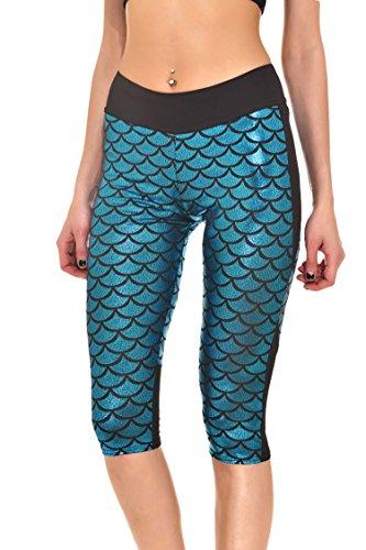 Pink Queen Mermaid Printed Leggings product image