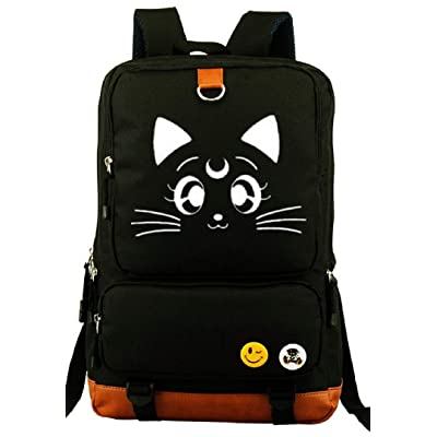 YOYOSHome Anime Sailor Moon Cartoon Luna Canvas Luminous Bookbag Backpack School Bag | Kids' Backpacks