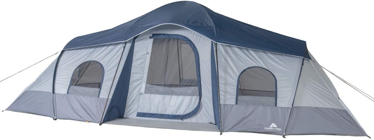 Ozark Trail 10 Person Tent- Tent With Separate Sleeping Areas