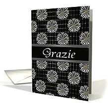 Italian Thank You (Grazie) Greeting Card