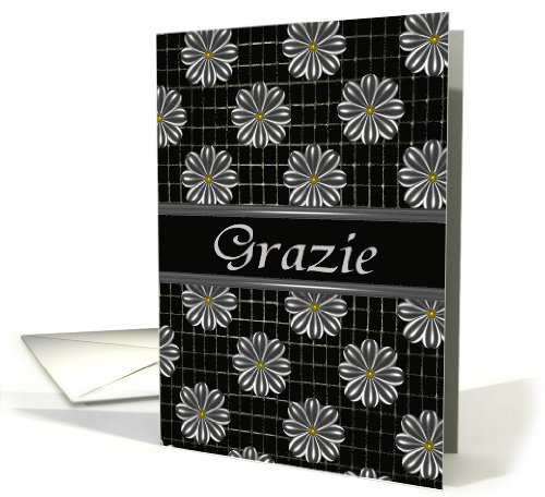 Italian Thank You Grazie Greeting Card