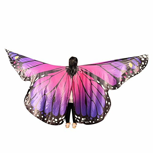 Butterfly Wings Toys Kids Baby Girl Belly Dancing Costume Unisex Children Butterfly Wings Dance Accessories No Sticks ICODOD(Hot Pink2)