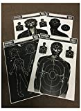 zombie bb targets - Zombie Reactive Paper Targets - 25 Pack - 12