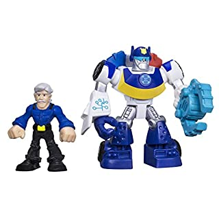 Playskool Heroes Transformers Rescue Bots Chase the Police-Bot and Chief Burns Figure Pack