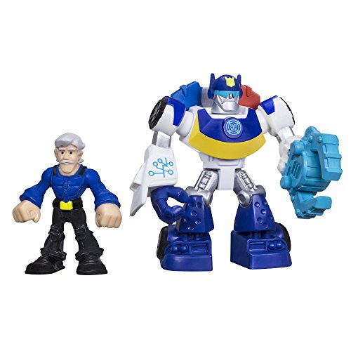 Playskool Heroes Transformers Rescue Bots Chase the Police-Bot and Chief Burns Figure (Chase Rescue Bot)
