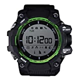 Mens Digital Sports Watch Multifunctional LED Wristwatch Sleep Monitor Pedometer Daily Activity Monitor IP68 Waterproof Bluetooth Smart Bracelet For Android iOS (Green)