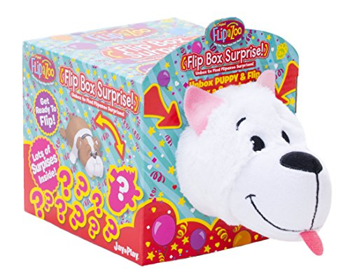 Flipazoo White Puppy Flip Box Surprise! Unbox and Flip for a Surprise! Includes Plush Flipazoo, Hat, Collar, Dog Collar Charm, Stickers, Sunglasses, Bowl and - Sunglasses Wholesaler