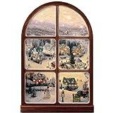 Thomas Kinkade Illuminated Musical Window Wall Decor: Holiday Lights by The Bradford Exchange