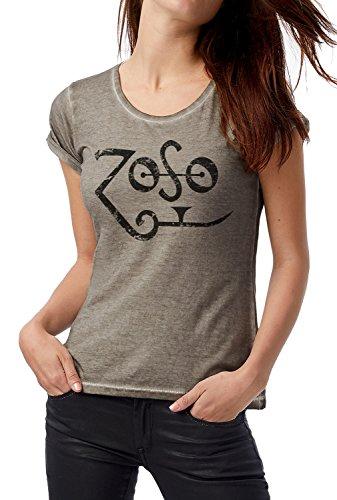Rock Camiseta Dnm Clash T Grey Cod Logo Con Grunge Grpr0119 Look Plug Lamaglieria Zoso Print Black In Vintage shirt Mujer Estampa 4q1Sw