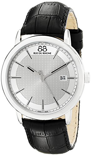 88-Rue-du-Rhone-Mens-87WA130015-Double-8-Origin-Analog-Display-Swiss-Quartz-Black-Watch