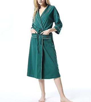 YXST Bata De Mujer Bata De AlgodóN Kimono Bata Mujer Albornoz Ropa ...