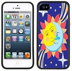 Sun Moon Stars Handmade iPhone 5C Black Case