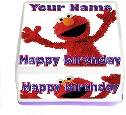 SESAME STREET PERSONALISED PRECUT EDIBLE 7.5INCH BIRTHDAY CAKE TOPPER DECORATION