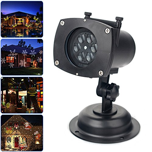 Christmas-Light-ProjectorFodsports-Led-Holiday-Lights-Show-with-12-Replaceable-LensStarSnowflakeHeart-for-Outdoor-Decorations
