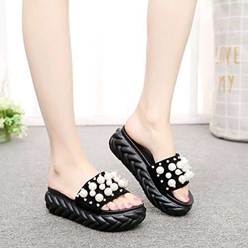 Sandalias verano casual retro aire fondo al grueso a de sandalias libre personajes damas cordones zapatillas moda de FLYRCX antideslizante de qdFEd