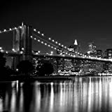 NYC B&W Brooklyn Bridge Peel and Stick Wallpaper