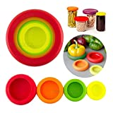 GG MALL 4PCS Kitchen Flexible Silicone Vegetable Fruit Savers Storage Cover Containers Set