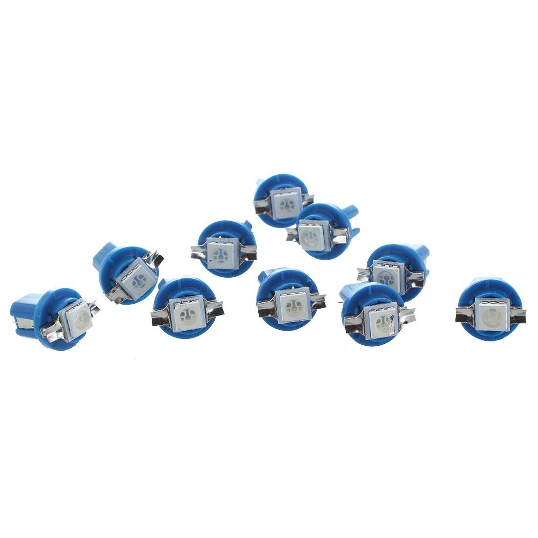 luci auto 10x SMD LED lampadina Meter Dashboard B8-5D T5 con Blue sintonia titolare R SODIAL