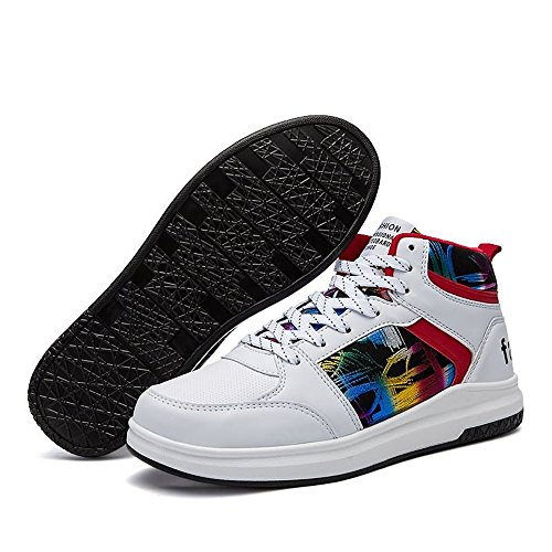 donna basket Bianca Sneakers scarpe moda Autunno con 38 Estate 2018 da hip EU fantasia casual uomo Dimensione hop stile shoes e da alta Color Jiuyue anq1v6