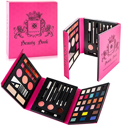 SHANY Beauty Book – All in one Travel Makeup Palette – Official Teen Makeup Set – Include Eyeshadows, Makeup Brushes, Lip colors, Blushes, Mascara and more.
