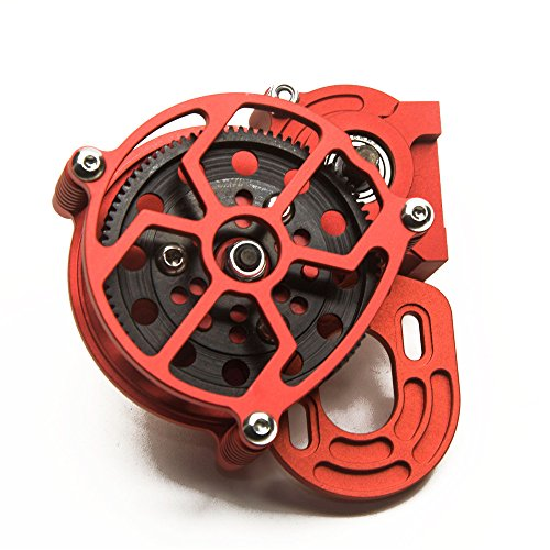 1/10 RC car Truck Full Metal Assembled Transmission Gearbox Tranny for RC Axial SCX10 D90(1PCS) Red