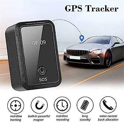 Lusenbo GF09 Mini GPS Tracker Dispositivo de Seguimiento de adsorción magnética Fuerte para el Coche Posicionamiento en Tiempo Real Antirrobo ...