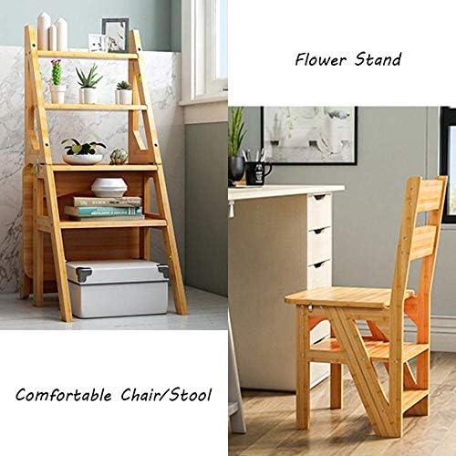 Échelles Pliantes Accueil Pliant Ladder Tabouret 4 Escabeau Chaise Multifonction Banc de Chaussures/Fleur Hauteur du Rack 90cm Escabeau Escabeaux HUXIUPING