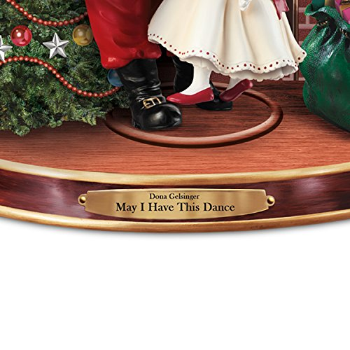 Dona Gelsinger May I Have This Dance Sculpture Featuring Dancing Santa Claus And Angel by The Bradford Exchange by Bradford Exchange (Image #3)