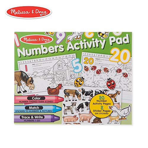 (Melissa & Doug Numbers Coloring and Sticker Activity Pad )