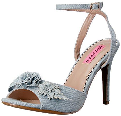 Betsey Johnson Women's Jaime Heeled Sandal Denim Multi RfJNsWh