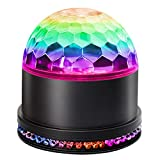 Party Supplies Disco Ball DJ Lights - Sound Activated LED lights RGB Strobe Lamp Stage Light for Home Dance Birthday Bar Karaoke Wedding Show (Black, Large)