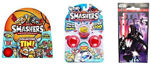 Smashers Zuru Collectible Series 1 Sports Themed 3-Pack (Bundle) with ZURU Series 1 Collector s Tin + BONUS Star Wars (Star Wars Series 1 Sticker)