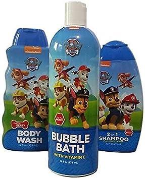 Paw Patrol Bath Set Trio (Bubble Bath, Body Wash & 2-in-1 Shampoo)