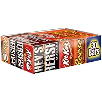 HERSHEY'S Chocolate Candy Bar Variety Pack (Hershey's, Reese's, Kit Kat) 30 Count