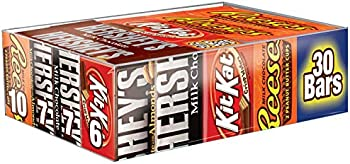 HERSHEY'S Chocolate Candy Bar Variety Pack 30 Count