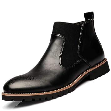 Yra Botines Martin De Cuero Verdadero Botines para Hombre Zapatos Casual para Hombre Botines Chelsea Vintage para Botas De Cuero: Amazon.es: Deportes y aire ...