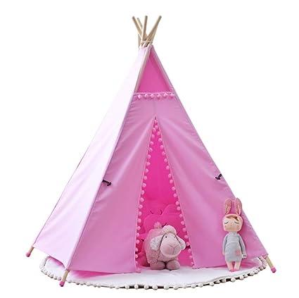 Tienda De Los Niños, La Princesa Pequeña Tienda De Juguetes Juegan Casa De Los Niños Tienda De Campaña De La India,White: Amazon.es: Hogar