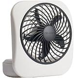 O2COOL 5-Inch Portable Fan, Gray
