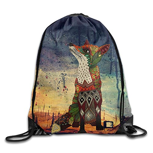 Fox Love Juniper Drawstring Gym Sport Bag, Large Lightweight Gym Sackpack Backpack For Men And Women from BYPOC