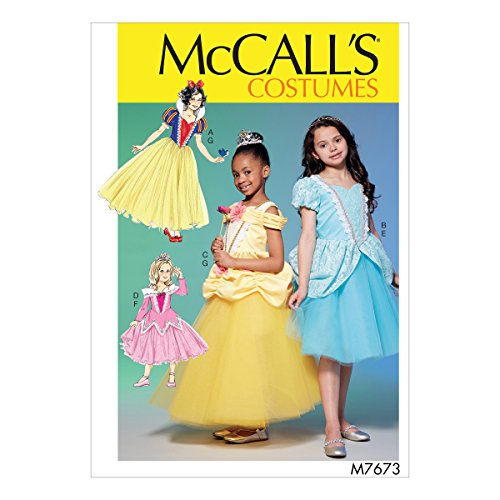 - McCall's Patterns M7673CCE Fairytale Princess Dress Costume Sewing Pattern for Girls, Sizes 3-6