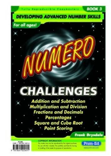 Numero Challenges: Addition, Subtraction, Multiplication, Division, Fractions, Decimals, Percentages, Square/cube Roots and Point Scoring Bk. 3 by Drysdale Frank (2001-06-01) Paperback