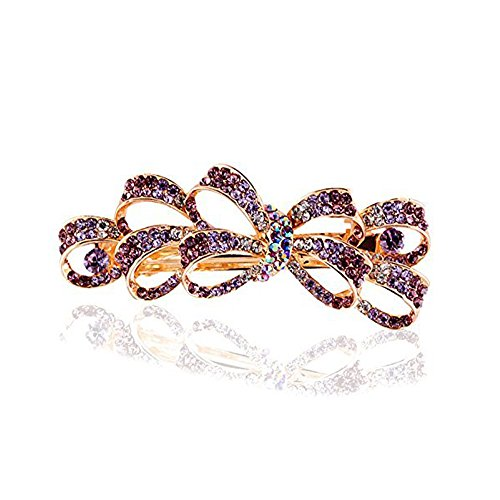 (Nicedeal Women Hairpin Hair Accessories Hair Clip Rhinestone Crystal butterfly Bow tie 6.54.6cmFor Hair Beauty and Hair)