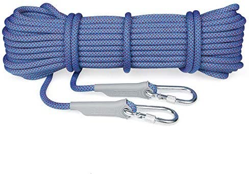 クライミングロープアウトドアクライミングロープ、安全ロープ、ライフラインロープ安全ロープ、10.5 mmフィールドサバイバル機器緊急ロープ。,10m