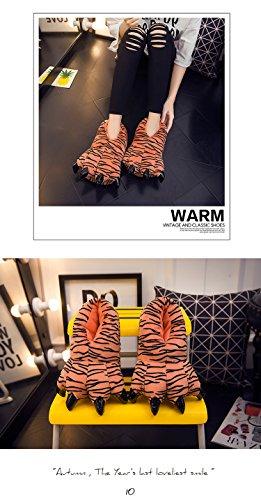 Velvet Shoe Animal Claw Soft Tiger Unisex Warm Shoe Adult Thicken Kids ECqfPxz