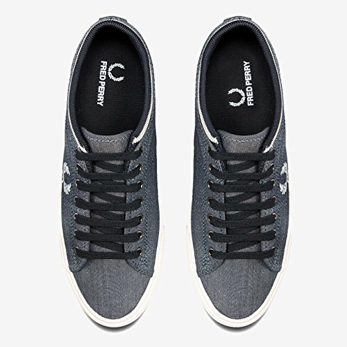 608 Navy Scarpe Cuff Kendrick Trainers Chambray Tipped Fred Sneaker Blu Uomo B1152 Perry qXtOxR